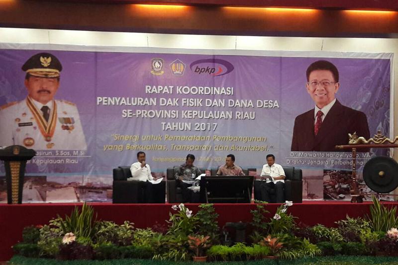 Rakor Pelaksanaan DAK Fisik dan Dana Desa 2017