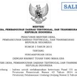 Download Permendesa No.3 Tahun 2015 Tentang Pendamping Desa