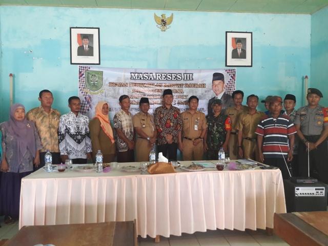 Kepala Dinas PMD Damping Reses Ketua Komisi III DPRD Kabupaten Natuna