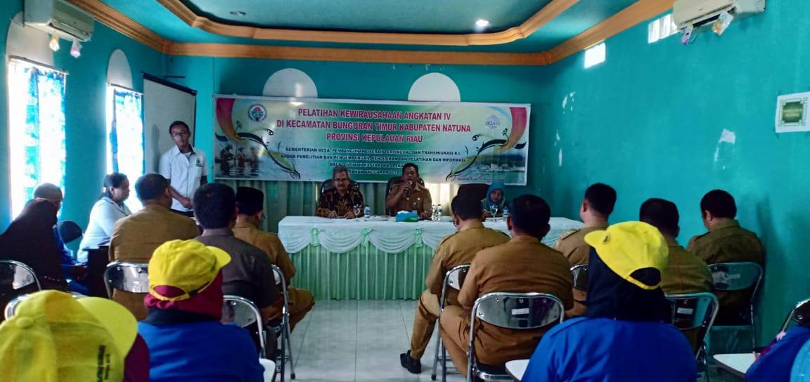 Desa Trampil, dan Praktis, Kemendes PDTT Gelar Pelatihan Kewirausahaan di Natuna