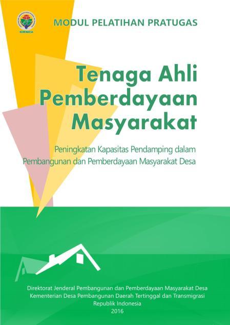 Modul Pelatihan Tenaga Ahli Pemberdayaan Masyarakat (TAPM)