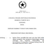 Download UU No.6 Tahun 2014 Tentang Desa