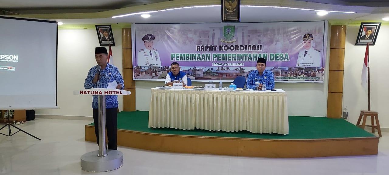 Evaluasi Pemerintahan Desa, Pemkab Natuna Laksanakan Rakor